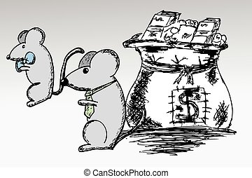 Mouse and Sack of Dollar