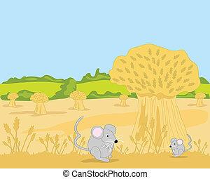 mouse and wheatsheaf