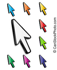 Mouse arrow cursor vector illustration