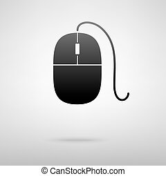 Mouse black icon