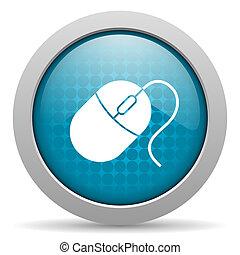 mouse blue circle web glossy icon