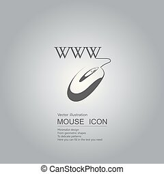 Mouse creative design. Isolated on grey background
