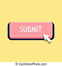 Mouse cursor clicks the submit button
