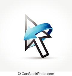 mouse cursor with arrow