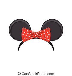 mouse ears headband for carnival, vector illustration on a...
