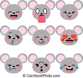 Mouse Emoji Avatar Expressions