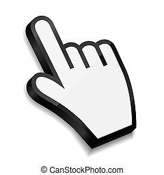 Mouse hand cursor vector illustration