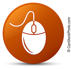 Mouse icon brown round button