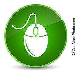 Mouse icon elegant green round button