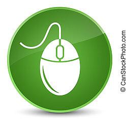 Mouse icon elegant soft green round button