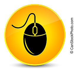 Mouse icon elegant yellow round button