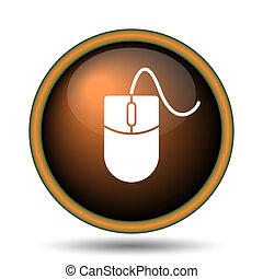 Mouse icon. Internet button on white background.