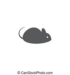 Mouse icon on white background