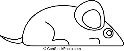 Mouse icon, outline style