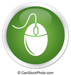 Mouse icon premium soft green round button
