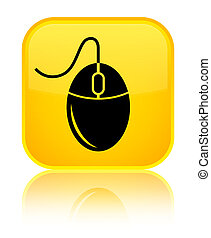 Mouse icon special yellow square button