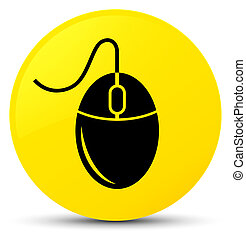 Mouse icon yellow round button