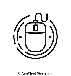 mouse interface vector illustration design