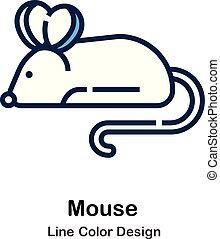 Mouse Line Line Color Icon