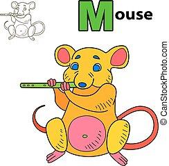 mouse., livre coloration, page