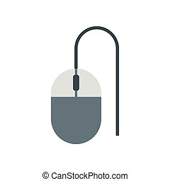 Mouse of computer icon, flat style