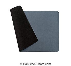 mouse-pad, weißes, grau, hintergrund, freigestellt