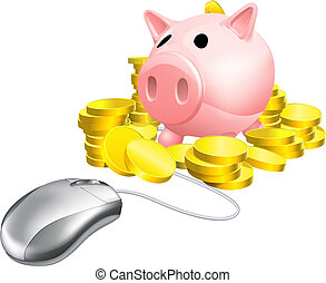 Mouse Piggy bank concept