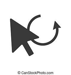 Mouse Pointer Undo Icon Vector - Mouse pointer with undo...