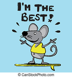 Mouse, rat, field mouse, better, king, character, comic...
