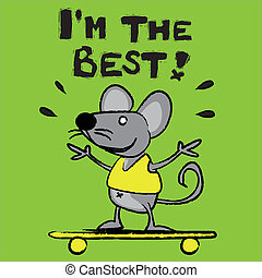 Mouse, rat, field mouse, better, king, character, comic ...