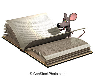 Mouse reading book