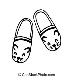MOUSE SLIPPERS ON A WHITE BACKGROUND IN VECTOR