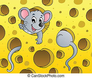Mouse theme image 1 - vector illustration.