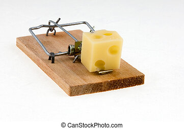 Mouse trap 2 - Mouse trap with cheese.