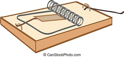 Mouse-trap. Color bright decorative background vector illustration.