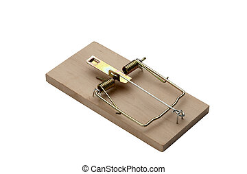 Mouse Trap - Iconic mouse trap shot on white background