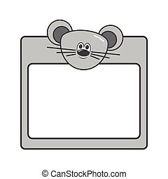 mouse vector animal frames. eps 10