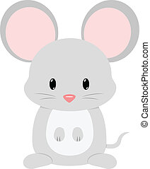 Mouse - Baby mouse seated