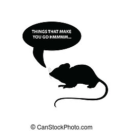 mouse vector silhouette illustration