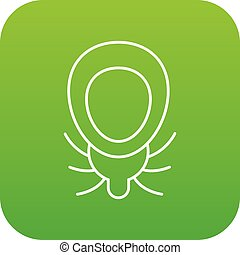 Mouse virus icon green vector