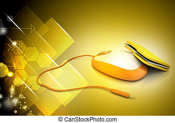 mouse with file folder