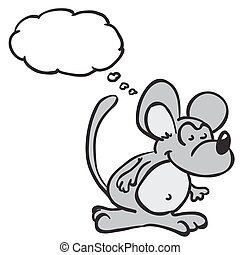 mouse with thought bubble