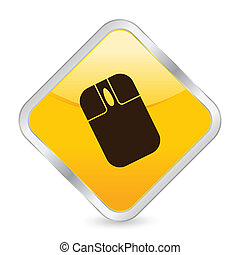 mouse yellow square icon