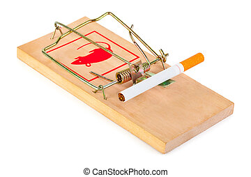 Mousetrap and cigarette