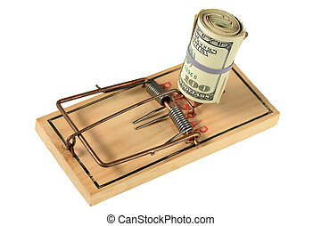 Mousetrap with Bundle of Money