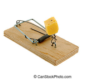 Mousetrap with cheese. The adaptation for catching mice and ...