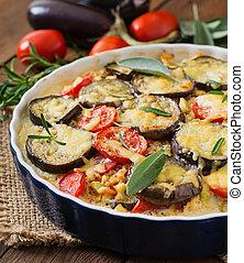 moussaka, casserole), (eggplant