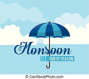 mousson, saison, fin