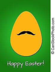 Moustache Easter egg