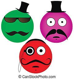 moustache, emoticons